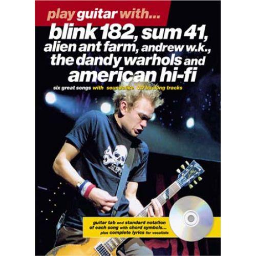 MUSIC SALES PLAY GUITAR WITH BLINK 182, SUM41...+ CD - GUITAR TAB