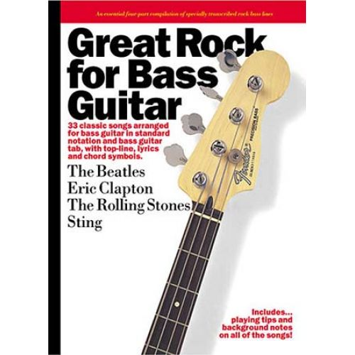 MUSIC SALES GREAT ROCK FOR BASS - BASS TAB