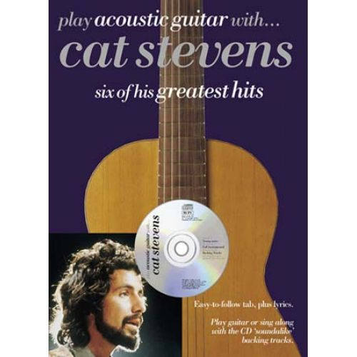 WISE PUBLICATIONS PLAY GUITAR WITH CAT STEVENS + CD - GUITARE TAB