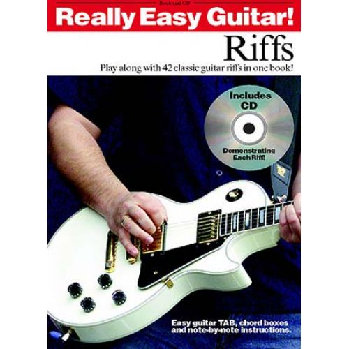 WISE PUBLICATIONS REALLY EASY GUITAR! RIFFS + CD - GUITAR