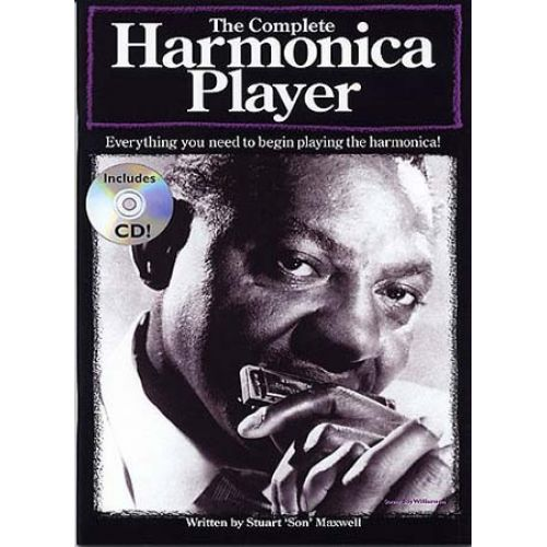 MUSIC SALES MAXWELL STUART - HARMONICA COMPLETE PLAYER + CD