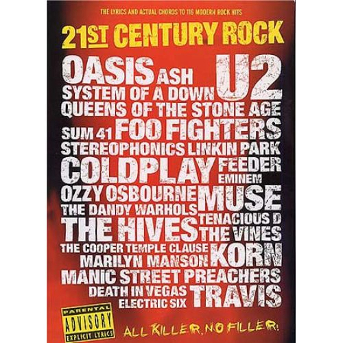 WISE PUBLICATIONS 21ST CENTURY ROCK SLIPCASE - LYRICS AND CHORDS ...