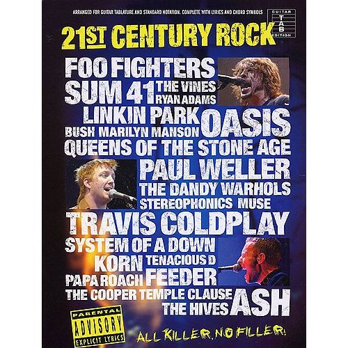 WISE PUBLICATIONS 21ST CENTURY ROCK TAB SLIPCASE - GUITAR TAB