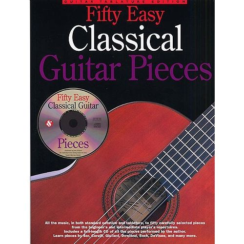 AMSCO FIFTY EASY CLASSICAL GUITAR PIECES + CD - GUITAR TAB