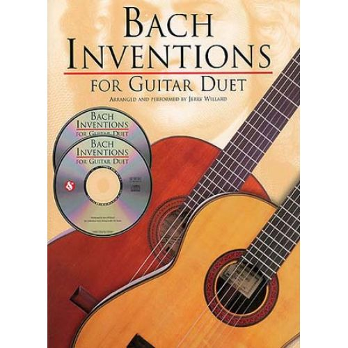 AMSCO JS BACH INVENTIONS FOR GUITAR DUET TAB + 2CD - GUITAR TAB