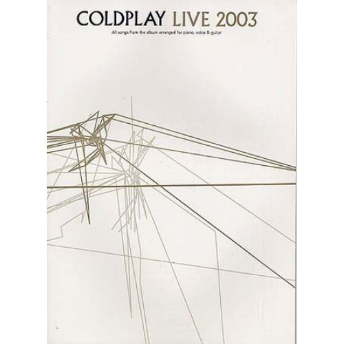 MUSIC SALES COLDPLAY - LIVE 2003 - PVG