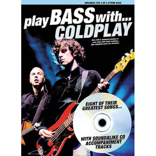 WISE PUBLICATIONS COLDPLAY PLAY BASS WITH CD