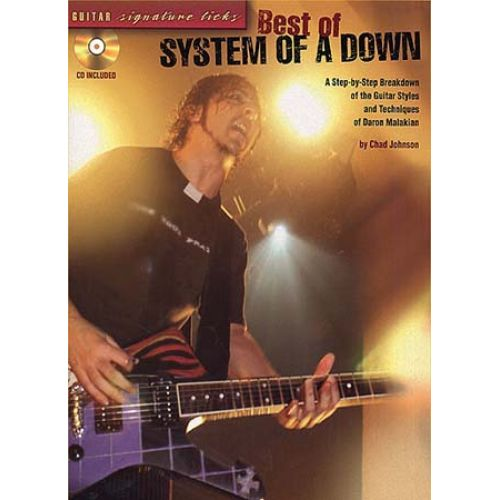 MUSIC SALES SYSTEM OF A DOWN - BEST OF SIGNATURE LICKS + CD - GUITAR TAB