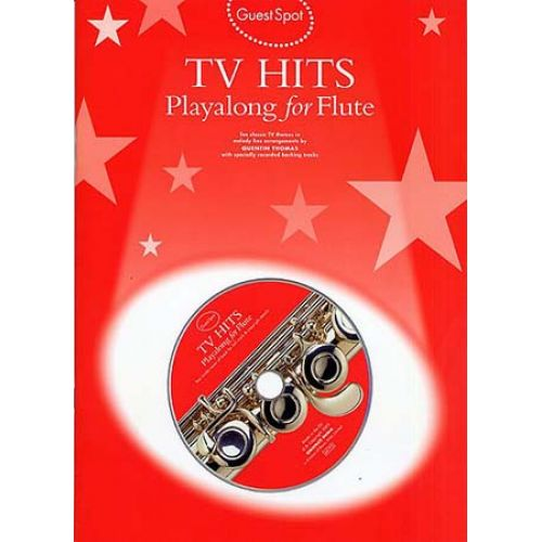 WISE PUBLICATIONS GUEST SPOT - SMASH HITS PLAYALONG FOR + CD - FLUTE