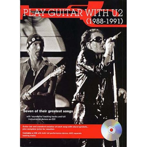 MUSIC SALES U2 - PLAY GUITAR WITH 88-91 + CD - GUITAR TAB
