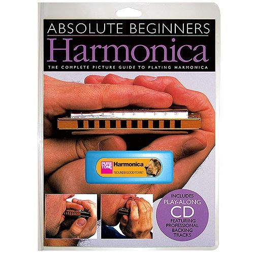 WISE PUBLICATIONS ABSOLUTE BEGINNERS HARMONICA INSTRUMENT PACK + CD - HARMONICA