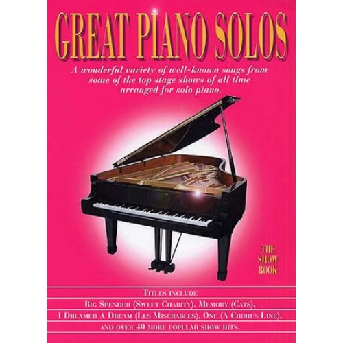 WISE PUBLICATIONS GREAT PIANO SOLOS - SHOW BOOK - PIANO