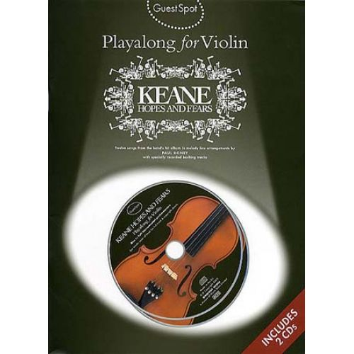 WISE PUBLICATIONS GUEST SPOT - PLAYALONG - KEANE - HOPES AND FEARS + 2CD - VIOLON