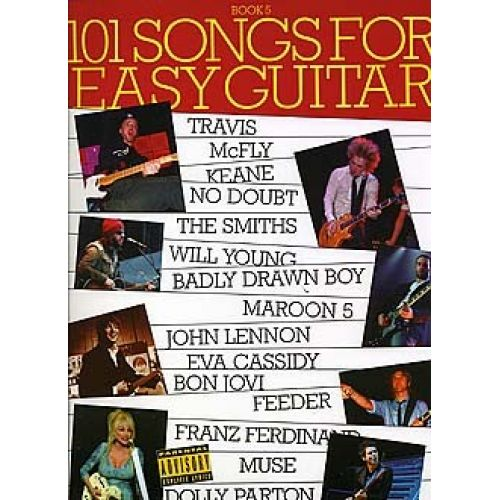WISE PUBLICATIONS 101 SONGS FOR EASY GUITAR - PT. 5 - GUITAR