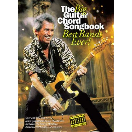 WISE PUBLICATIONS THE BIG GUITAR CHORD SONGBOOK - BEST BANDS EVER - PAROLES ET ACCORDS