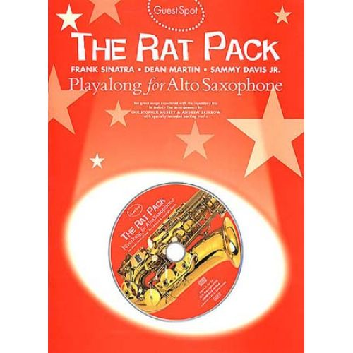 MUSIC SALES GUEST SPOT - RAT PACK + CD - SAX ALTO
