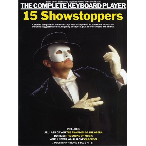 WISE PUBLICATIONS COMPLETE KEYBOARD PLAYER SONGBOOK - 15 SHOWSTOPPERS - KEYBOARD