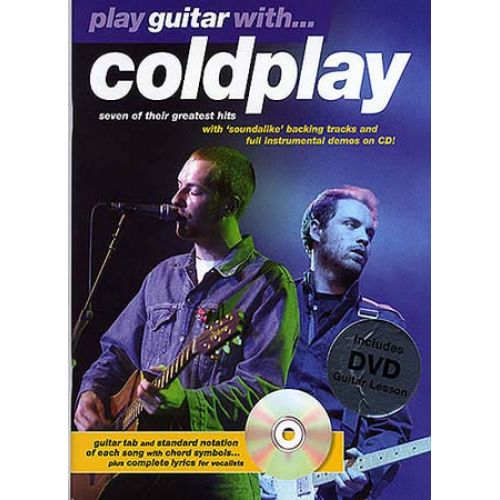 MUSIC SALES COLDPLAY - PLAY GUITAR WITH + CD + DVD - GUITAR TAB
