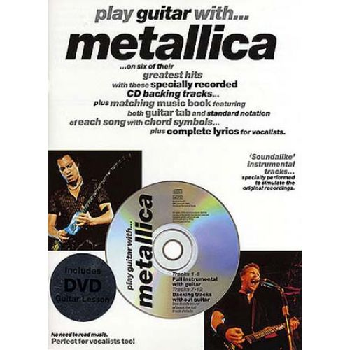 WISE PUBLICATIONS PLAY GUITAR WITH METALLICA (CD ET DVD)
