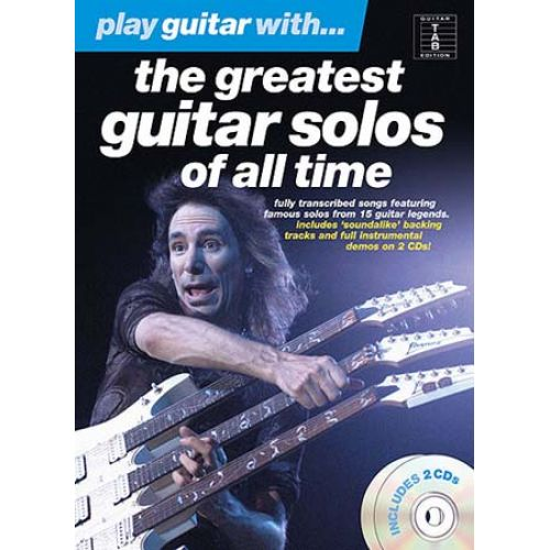 WISE PUBLICATIONS PLAY GUITAR WITH THE GREATEST SOLO OF ALL TIME TAB 2 CD