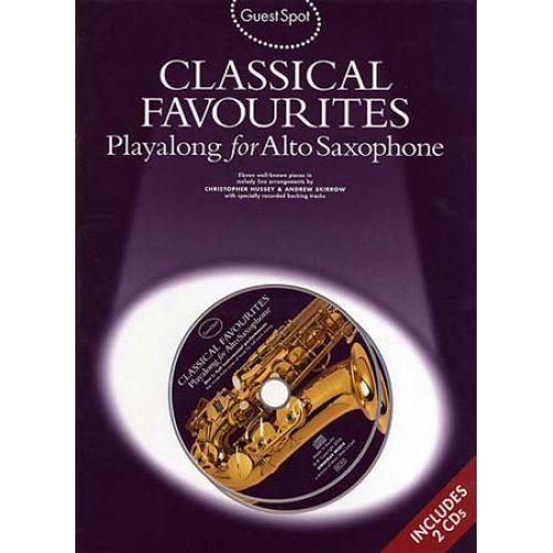 WISE PUBLICATIONS GUEST SPOT - CLASSICAL FAVOURITES + 2 CD - ALTO SAXOPHONE