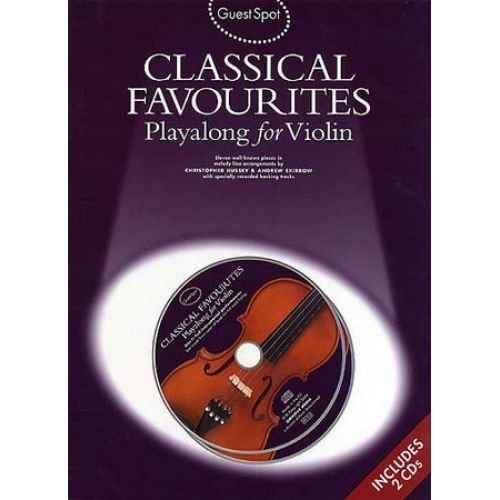 WISE PUBLICATIONS GUEST SPOT - CLASSICAL FAVOURITES + 2CD - VIOLON