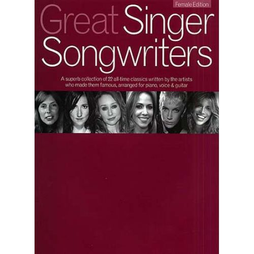 WISE PUBLICATIONS GREAT SINGER SONGWRITERS FEMALE - PVG
