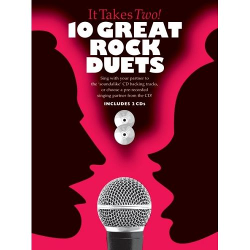 WISE PUBLICATIONS IT TAKES TWO 10 GREAT ROCK DUETS PVG + 2CD - PVG