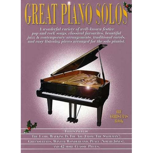 WISE PUBLICATIONS GREAT PIANO SOLOS - CHRISTMAS BOOK