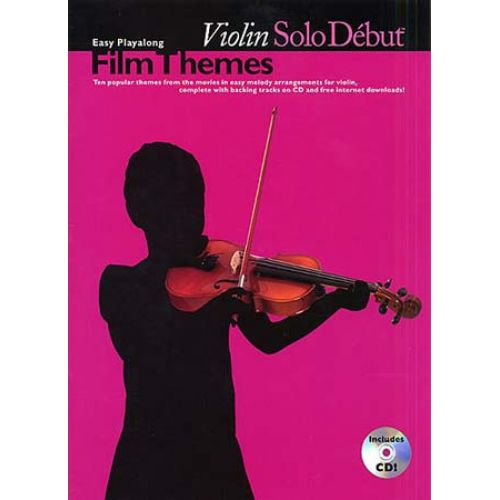 WISE PUBLICATIONS SOLO DEBUT - FILM THEMES + CD - VIOLIN