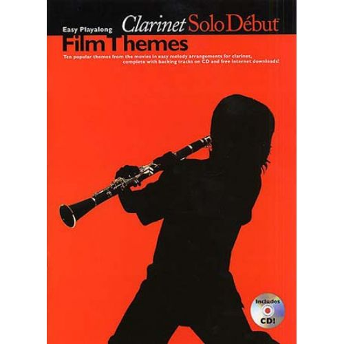 WISE PUBLICATIONS SOLO DEBUT - FILM THEMES + CD - CLARINET