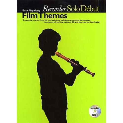 WISE PUBLICATIONS SOLO DEBUT - FILM THEMES + CD - RECORDER