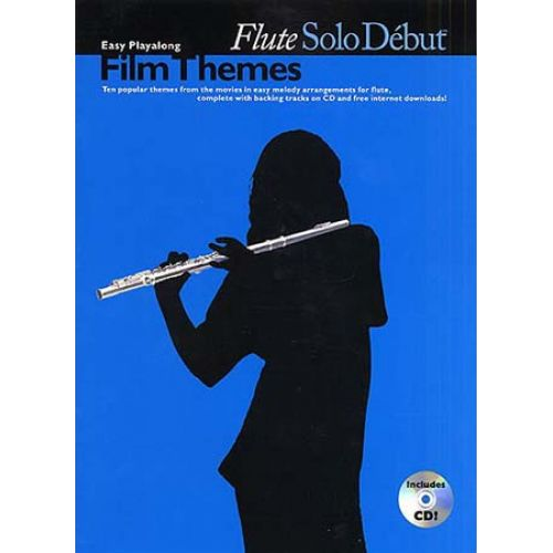 WISE PUBLICATIONS SOLO DEBUT - FILM THEMES + CD - FLUTE