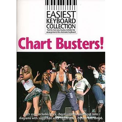 WISE PUBLICATIONS EASIEST KEYBOARD COLLECTION - CHART BUSTERS! - KEYBOARD