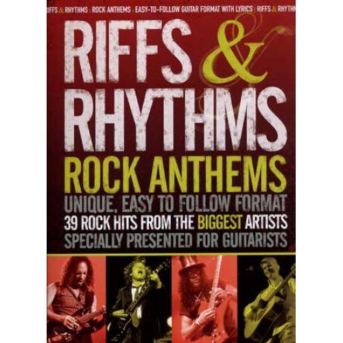 WISE PUBLICATIONS RIFFS & RHYTHMS ANTHEMS - 39 ROCK HITS - GUITAR TAB