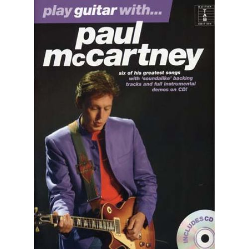 WISE PUBLICATIONS MC CARTNEY PAUL - PLAY GUITAR WITH + CD - GUITAR TAB