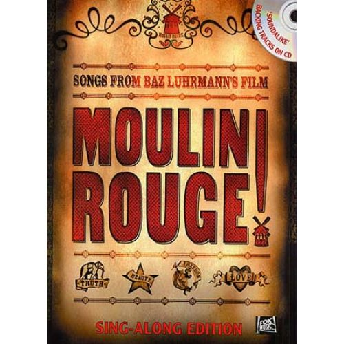 WISE PUBLICATIONS MOULIN ROUGE SING-ALONG EDITION + CD - PVG