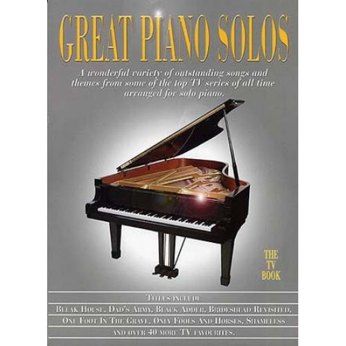 WISE PUBLICATIONS GREAT PIANO SOLOS TV BOOK - PIANO