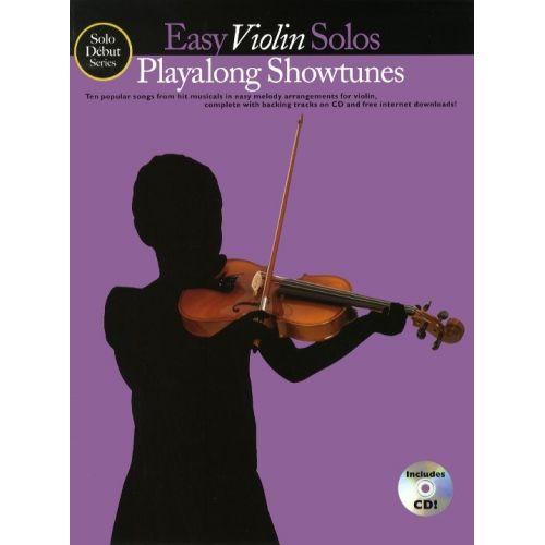 MUSIC SALES SOLO DEBUT PLAYALONG SHOWTUNES EASY VIOLIN SOLOS + CD - VIOLIN