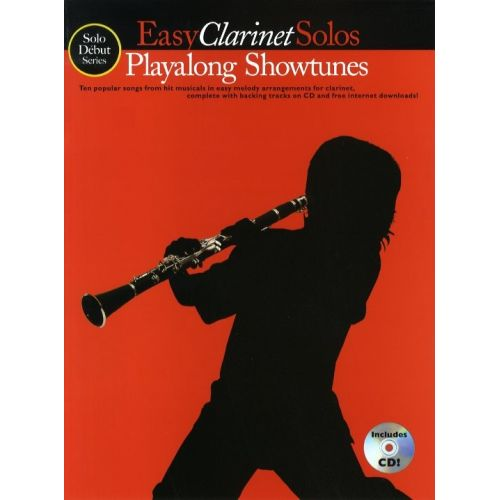 MUSIC SALES SOLO DEBUT PLAYALONG SHOWTUNES EASY CLARINET SOLOS + CD - CLARINET