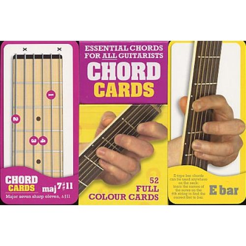 WISE PUBLICATIONS CHORD CARDS - ESSENTIAL CHORDS FOR ALL GUITARISTS - GUITAR