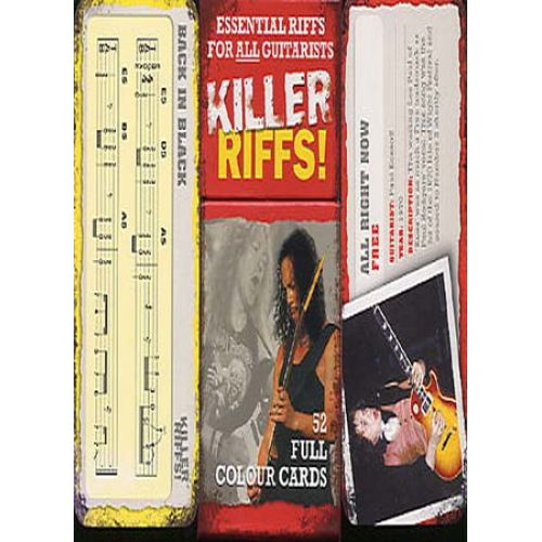 MUSIC SALES KILLER RIFFS 52 CARTES - GUITAR TAB
