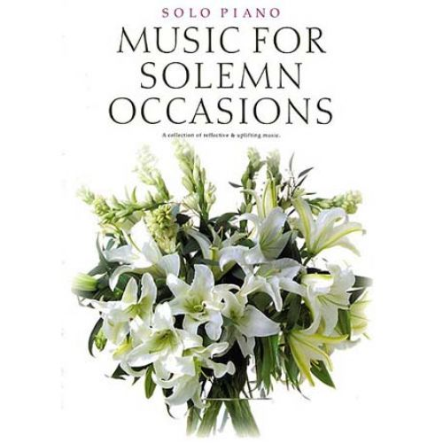 WISE PUBLICATIONS MUSIC FOR SOLEMN OCCASIONS - PIANO SOLO
