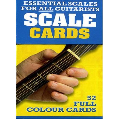 WISE PUBLICATIONS SCALE CARDS - 50 SCALES AND ARPEGGIOS - GUITAR