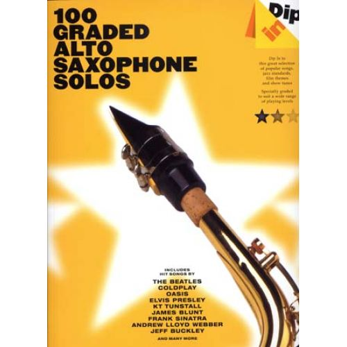 WISE PUBLICATIONS DIP IN 100 GRADED ALTO SAX SOLOS