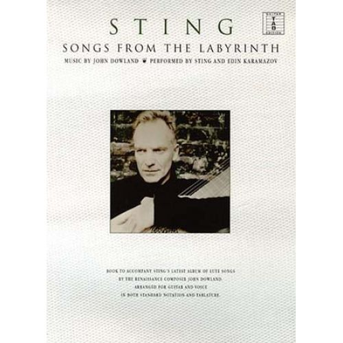 WISE PUBLICATIONS STING - SONGS FROM THE LABYRINTH - GUITAR TAB