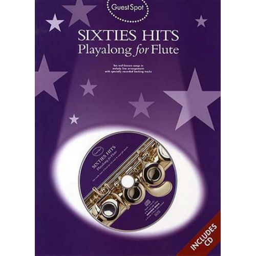 WISE PUBLICATIONS GUEST SPOT - SIXTIES HITS + CD - FLUTE