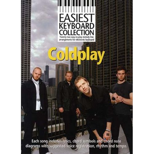 MUSIC SALES EASIEST KEYBOARD COLLECTION - COLDPLAY - KEYBOARD