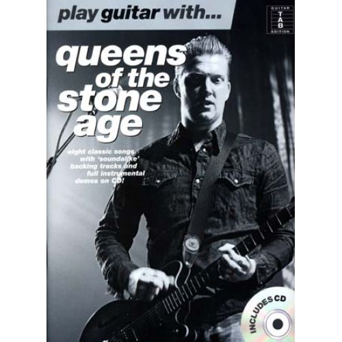 WISE PUBLICATIONS QUEENS OF THE STONE AGE - PLAY GUITAR WITH + CD - GUITAR TAB
