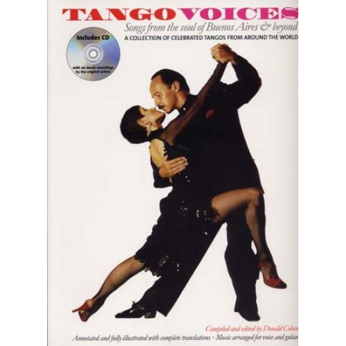 WISE PUBLICATIONS TANGO VOICES - 26 CLASSICS WITH ORIGINAL RECORDINGS + CD - CHANT ET GUITARE